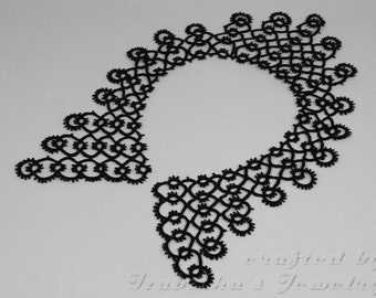 Lace tatted collar IV - made to ORDER