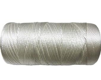 15 Meters Nylon Cord Natural (not waxed) 1mm - Macrame Cord - Crochet Thread