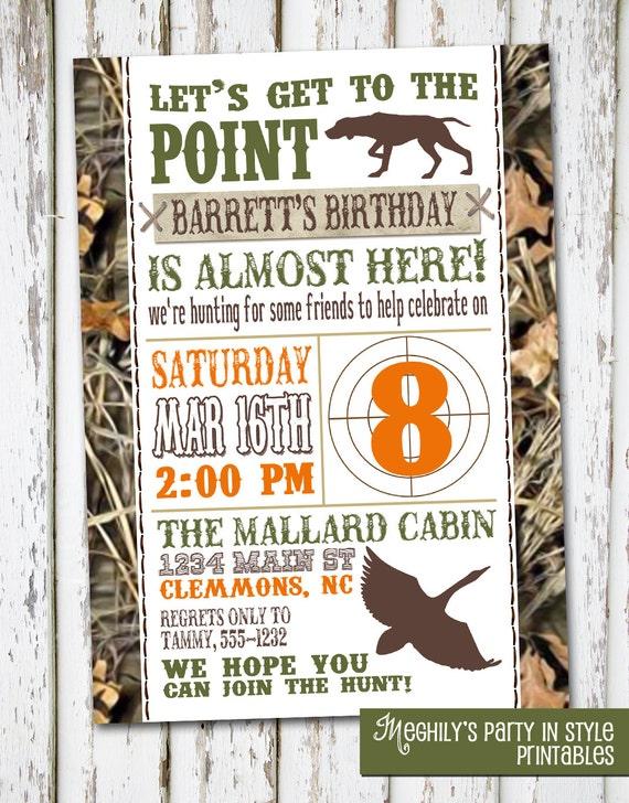 Cool Hunting Theme Birthday Invitation By Meghilys On Etsy Funny Birthday Cards Online Benoljebrpdamsfinfo