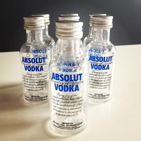 7 Absolut Vodka Mini Liquor Bottles Airplane Size