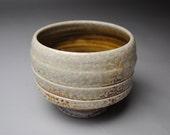 Tea Bowl Handmade Clay Soda Fired