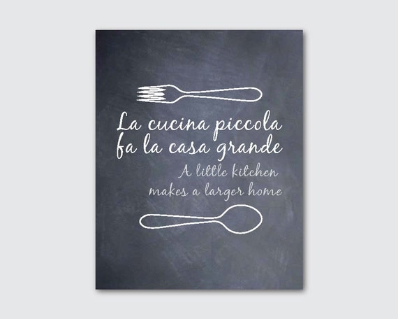 kitchen wall art la cucina piccola fa la by susannewberrydesigns. Black Bedroom Furniture Sets. Home Design Ideas