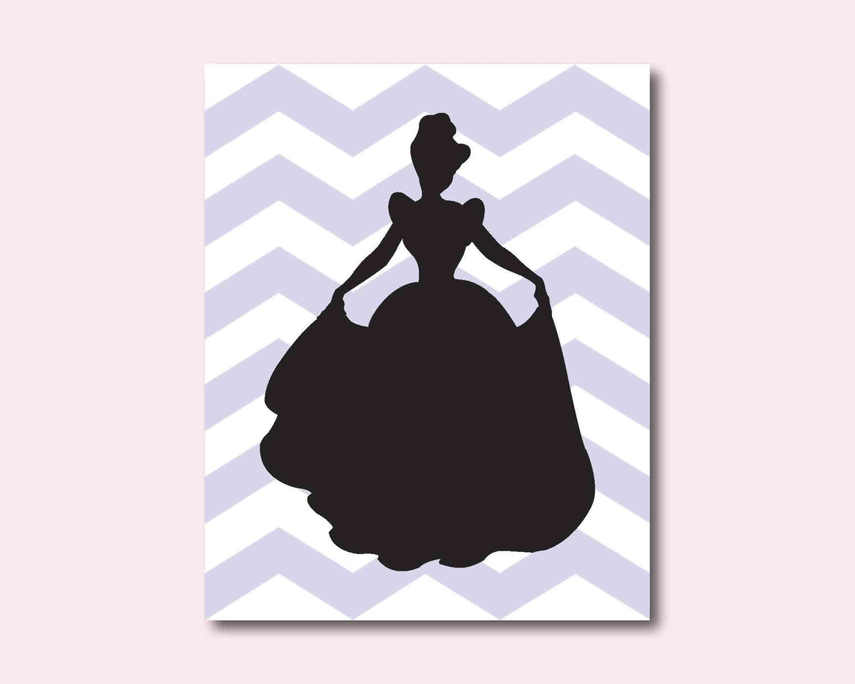 Princess Silhouette Cinderella Nursery or Girls Bedroom