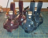 Leather potion bottle holder - Sphere shaped