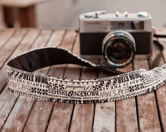 Camera Strap - The Block for DSLR and Mirrorless (Cream / Black)  Father's day Gift