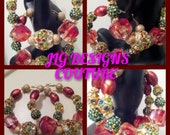 GARDENIA Basketball Wives Love and Hip Hop Poparazzi inspired hoops