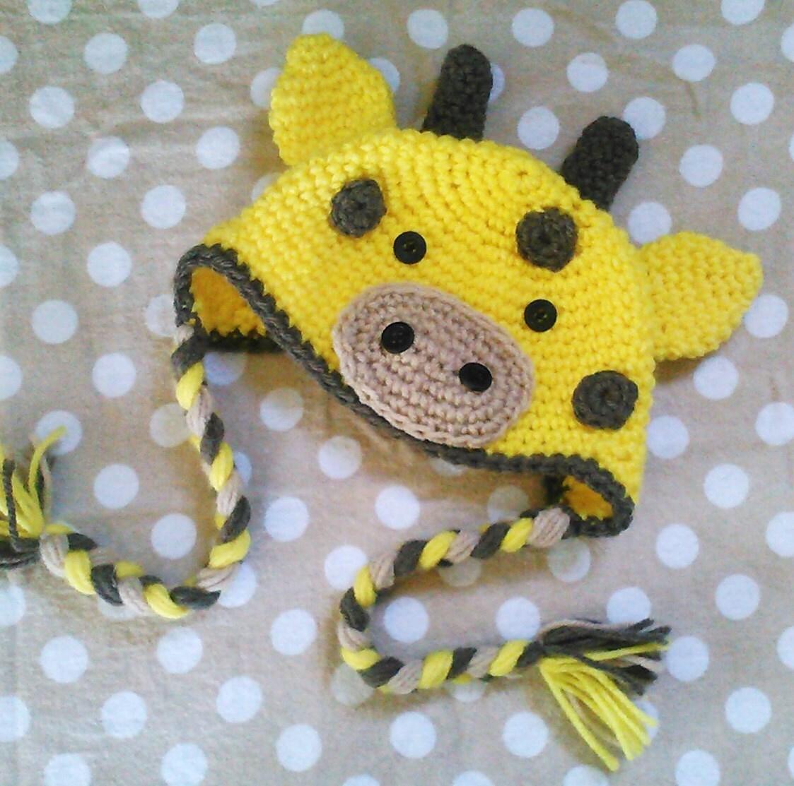 Crochet Pattern Giraffe Hat : PATTERN Giraffe Baby Infant Hat PDF crochet pattern In english