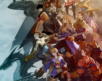 "Final Fantasy Tactics 20 x 30"" Video Game Poster"