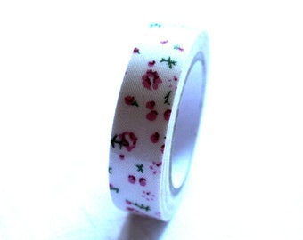 pink floral tape-mask tape fabric- ribbon tape Qty 1