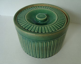 Vintage Green Crock