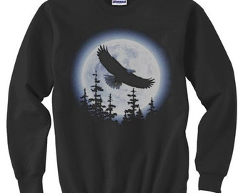 Crewneck Sweatshirt / Eagle Moon