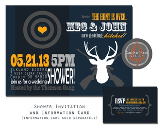 Custom Wedding SHOWER INVITATION DESIGN - Hunting & Rifles