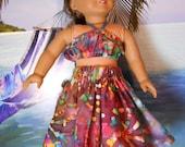 American Girl Doll-Luau Outfit-Batik Multicolor