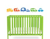 Cute Cars -  A5 wall decals -  Bright coloured vehicle wall stickers