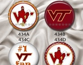"""Love Virginia Tech, Hokies - Interchangeable Magnetic Design Inserts - FIT Clique and Magnabilities 1"""" Jewelry Bases...434"""