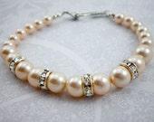 Cream Rose Crystal Pearl ...