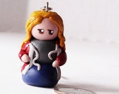 Rose Tyler Doctor Who Polymer Clay Chibi Keychain