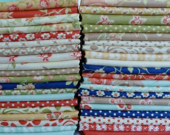 One 17 Piece Fat Quarter Yard Bundle of Avalon by Fig Tree Quilts for Moda