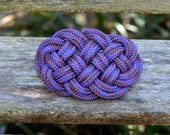 Celtic Knot Ocean Plait Nautical Sailor Knot Purple Hair Clip Barrette - StalkingTheWildSnark