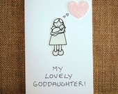 Christening God Daughter card To my lovely God Daughter   A handmade greeting card