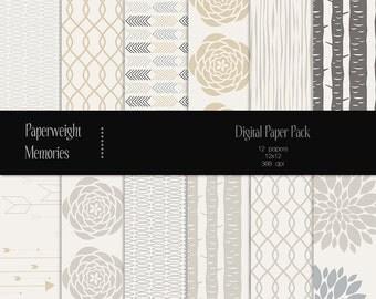 Falling Rain - digital patterned paper - Instant Download -  digital scrapbooking - patterned paper - Commercial use