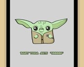 Baby Yoda Nursery Art modern print poster