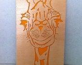 Wooden Giraffe woodwork wall art