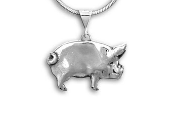 SS Large Pig Pendant