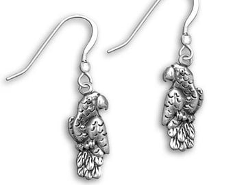 SS African Grey Earrings