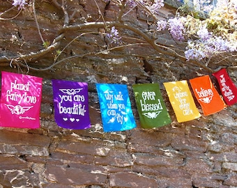 Rainbow fairylove prayer flags / bunting