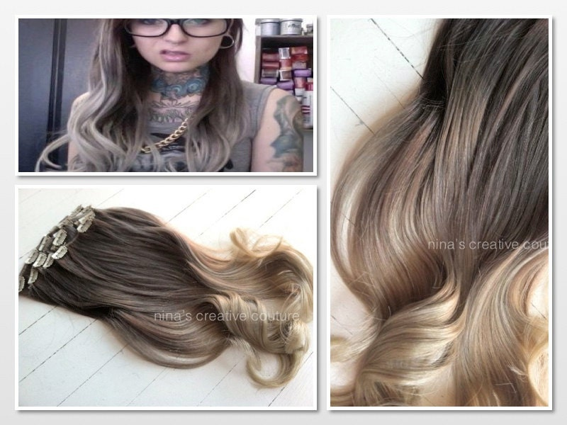 Ash Blonde Ombre Hair Extensions 67
