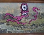 Hijacked Thrift Shop Painting Monster Painting