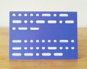 Blue Happy Birthday Morse Code Greeting Card