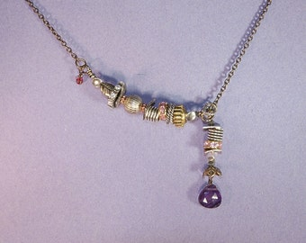 Purple Amethyst Necklace and Earring Set