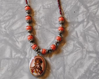 Coral Indian necklace (#2)