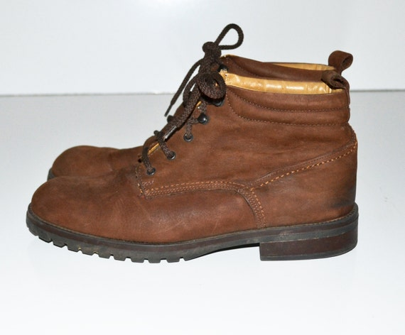 vintage st johns bay boots womens brown leather ankle boots