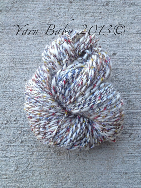 Handspun art yarn, worsted weight, 105 yards