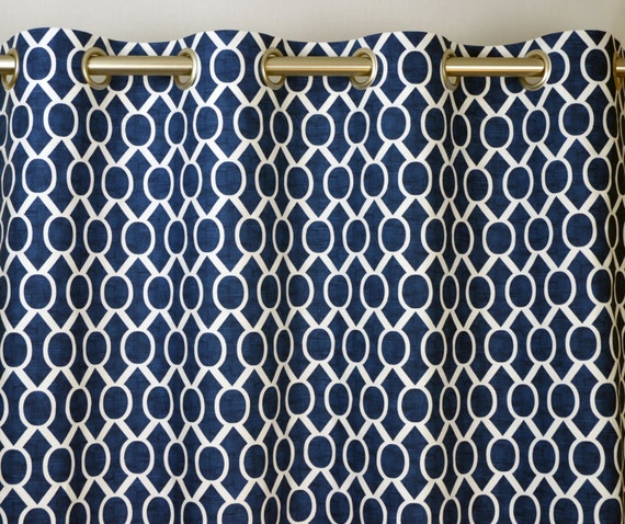curtains ideas blue and white geometric curtains navy blue white modern geometric honeycomb