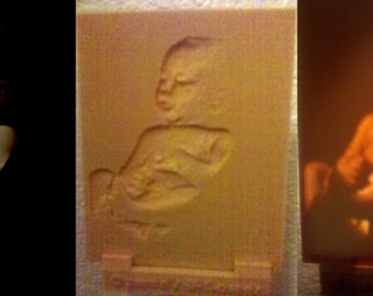 Custom Night Light Lithophane 3D Printed