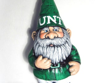 Sports Team Ceramic Garden Gnome - 14 inches, hand painted lawn or garden gnome, outdoor or indoor