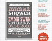 Vintage Printable Invitation Card for Bridal Shower, Birthday, Baby Shower, Wedding