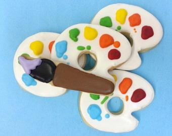 1 dozen - Painter's Palette Cookie Party Favors