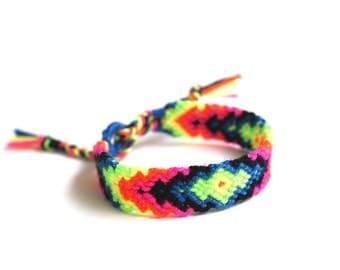 Friendship Bracelet. Hot Neons.