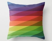 """20""""x20"""" Rainbow Geometric Throw Pillow COVER ONLY"""