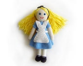 Alice in Wonderland, Amigurumi Crochet Doll