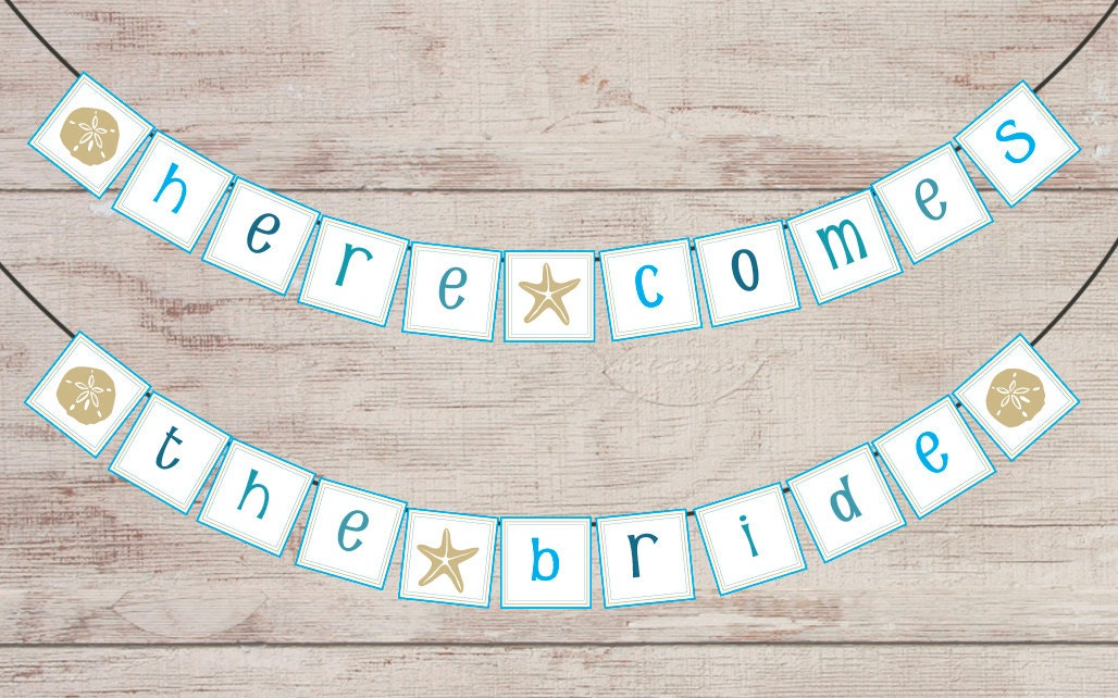 Bridal Shower Banner Printable Beach Theme by UncommonHeather