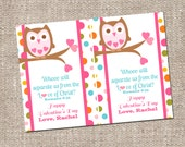 Owl Girl Scripture Valentine's Day Kids Classroom Card - Custom Printable DIY