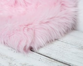 SALE Light Baby Pink Faux Fur Photography Photo Prop Newborn Nest Bowl-Ready to Ship
