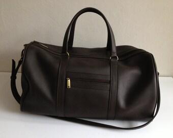 Brown leather duffle bag, Weekend bag, Duffle, Mens gab