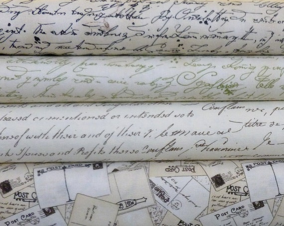 Letter Writing for Sewists- Fat Quarter Bundle
